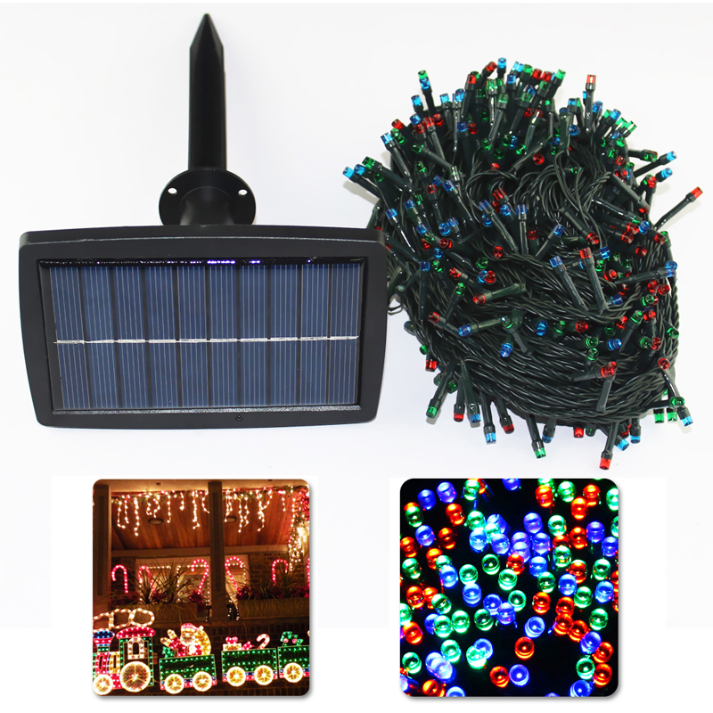 Solar Led String Lights 500 Led Garden Wedding Christmas Party Decoration Lights Waterproof String Solar Lights Lamp Outdoor ledniceker multi colored solar led string lights with garden solar panel for garden patio christmas tree parties and all outdoor and indoor activities decoration 4 8 meters long 20 waterproof bulbs