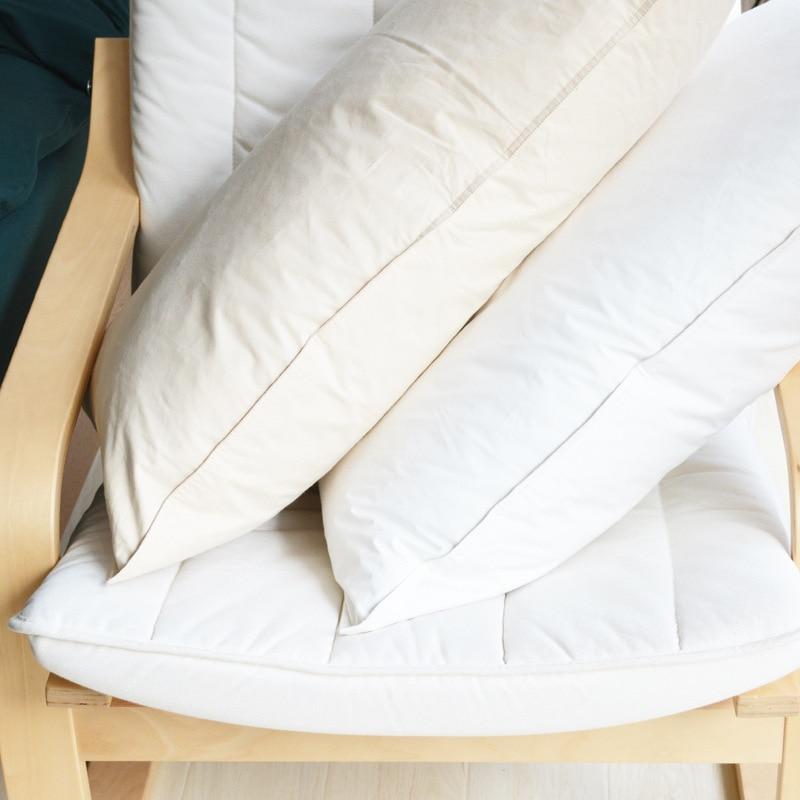 95% oreiller en duvet de canard blanc, oreiller moelleux doux standard 5 étoiles. surface en coton respectueuse de la peau