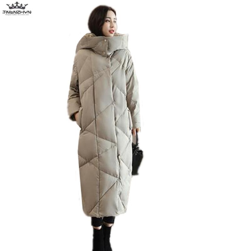 Hiver Nouveau Chaud Femmes Mode Long Y897 Manteaux Le Down Capuche Slim Veste black Vers 2019 En Gray De Extra Tnlnzhyn Bas Coton Épais E5nqwxa4t