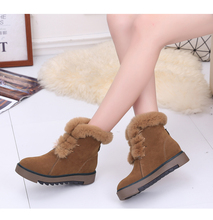 New Top quality Women snow boots Natural Fur Warm Winter Boots Women's Fashion Ankle Boots Women Boots 100% Wool Inside