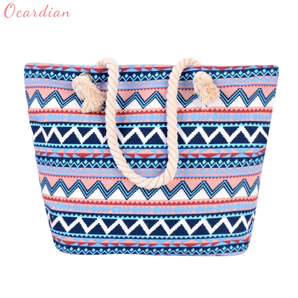Ocardian Brand New Arrival Women Bohemian Style Shoulder Bags Capacity Women Canvas Bags Master Desiger Dropship #0929