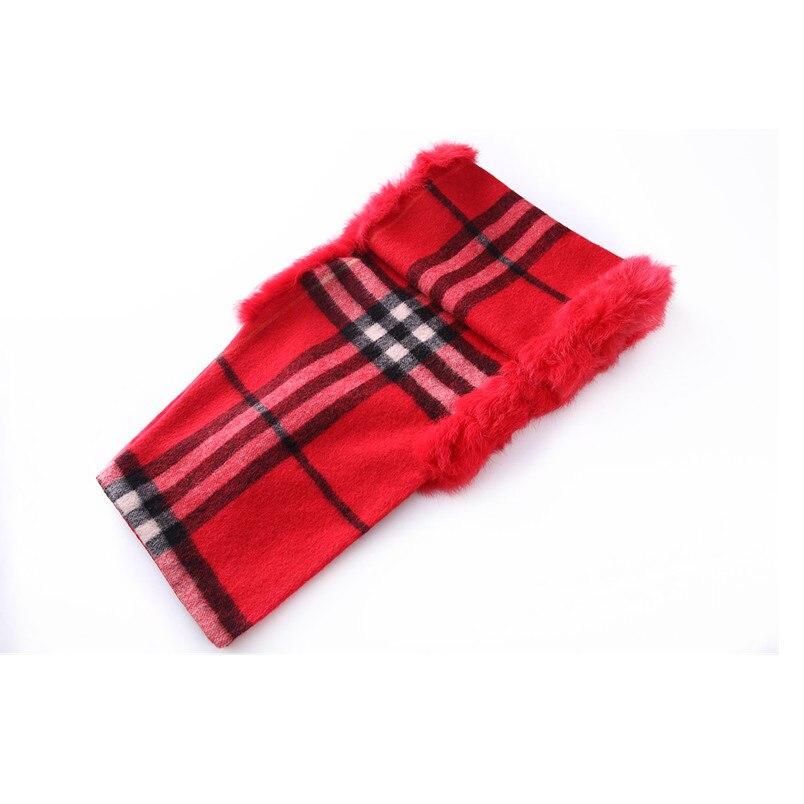 ZY87036 2016 nouveau Design spécial mode femmes automne hiver géométrique écharpe laine avec col de lapin de luxe enveloppes Poncho - 6