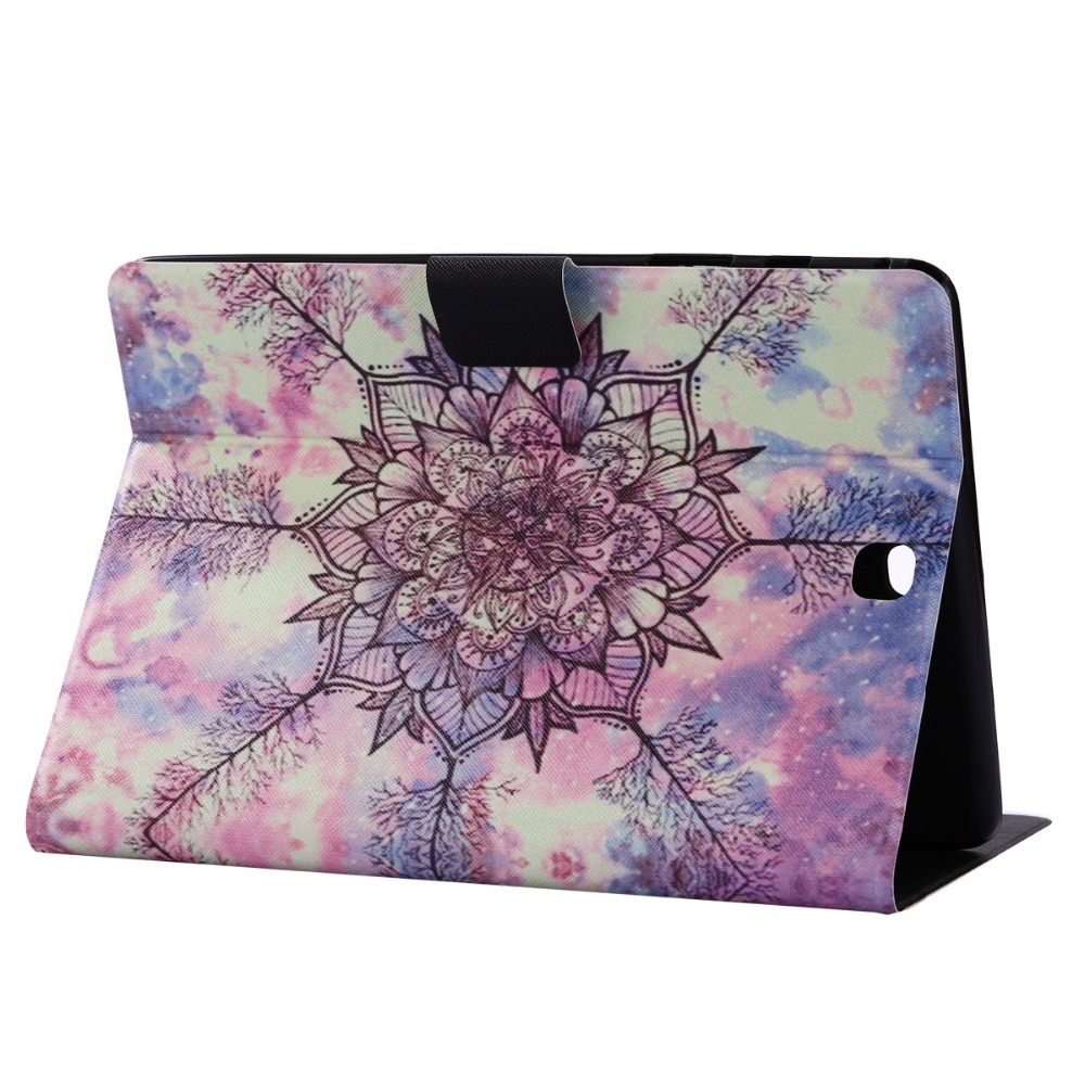 Ultra Thin Print Card Soft TPU+PU Leather Stand Cover Magnet Smart Case For Samsung Galaxy Tab A 8.0 T350 T351 T355 P350 P355