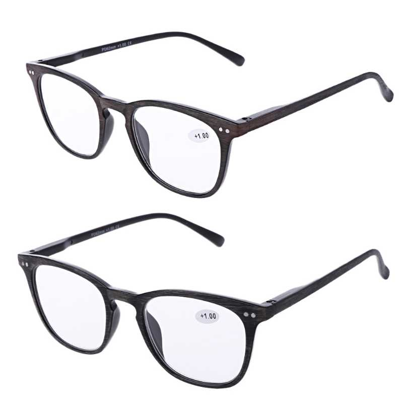 a44ef8c9513 Fashion Wood Grain Reading Glasses Men Women 2017 Vintage Resin Lens Points  for Male Reader W715