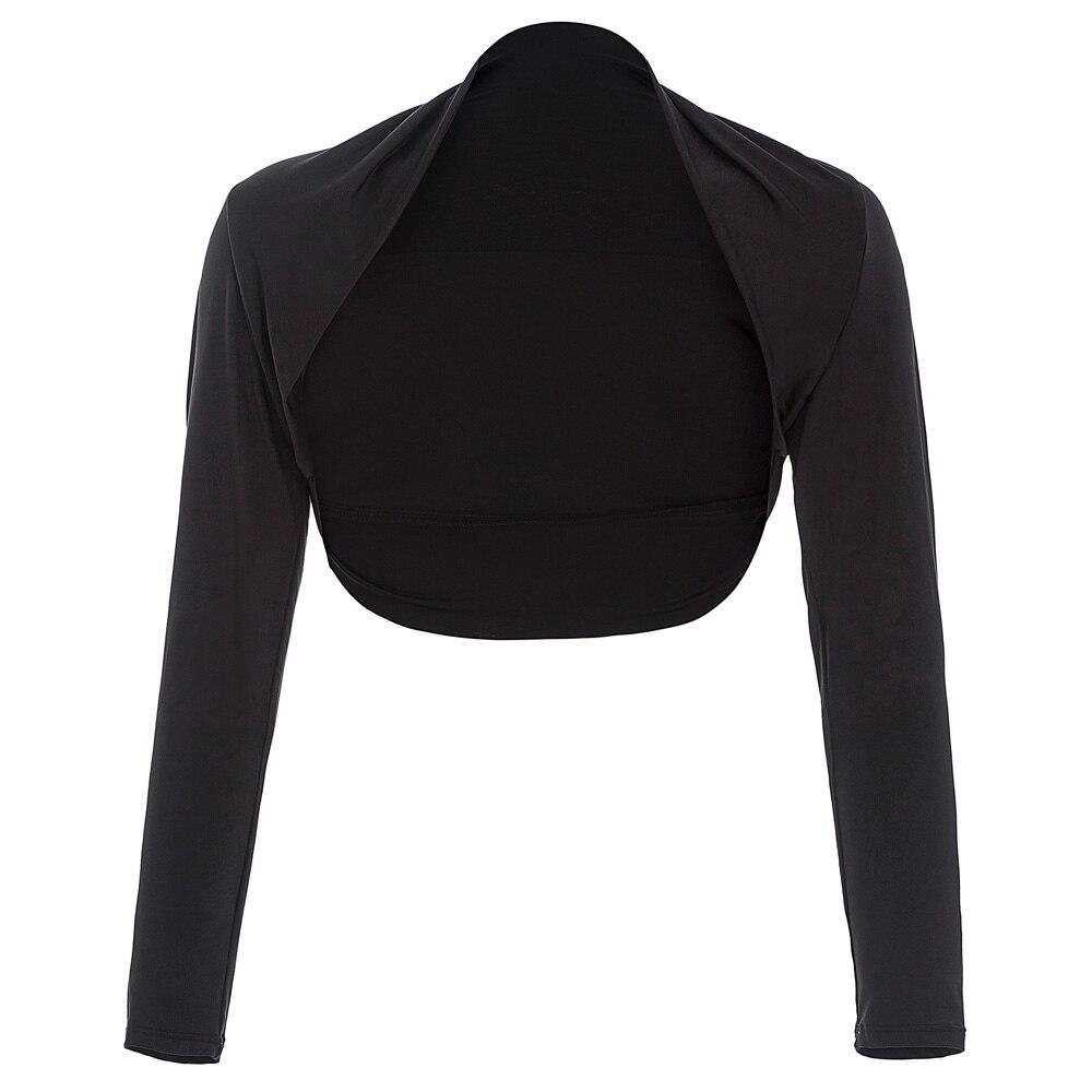 Long Sleeve Wedding Jackets Bolero Wrap Black Shrugs For Evening ...