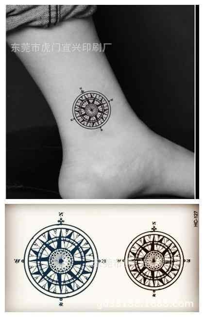 Di Arte di corpo impermeabile tatuaggi temporanei per gli uomini e le donne della moda 3d bussola disegno piccolo autoadesivo del tatuaggio Commercio All'ingrosso HC1127