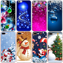 цена на Christmas Soft Silicone Phone Case for iphone X XR XS MAX 6 7 8 Plus Lovely Santa Claus Tree Snow For iPhone 8 7 plus Cover