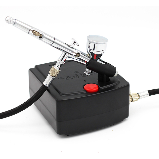 0.2mm Airbrush Dual Action Air  Spray Gun Compressor Kit Makeup Airbrush Cake Needle Body Paint Nail Tattoo ToolSet