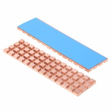Copper Heatsink Cooler Heat sink Thermal Conductive Adhesive For M.2 NGFF 2280 PCI-E NVME SSD 67*18mm Thickness 2mm/3mm/4mm C26