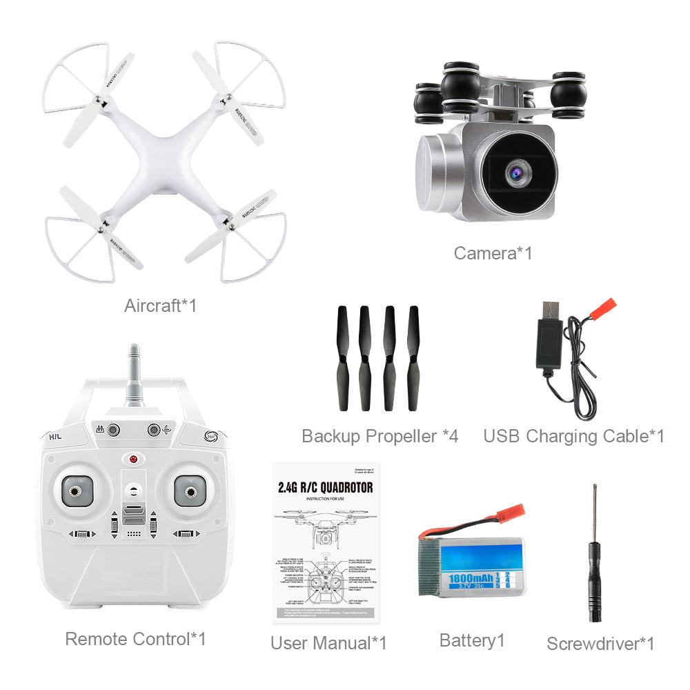 2.4G 4CH 6-Axis Gyro 720P Drone Aircraft S15 720P Quadcopter Stable Gimbal HD Camera RC Aircraft FPV Fixed Height wholesale eagle a3 super ii flight controll gyro 3d avcs for fixed fpv half set