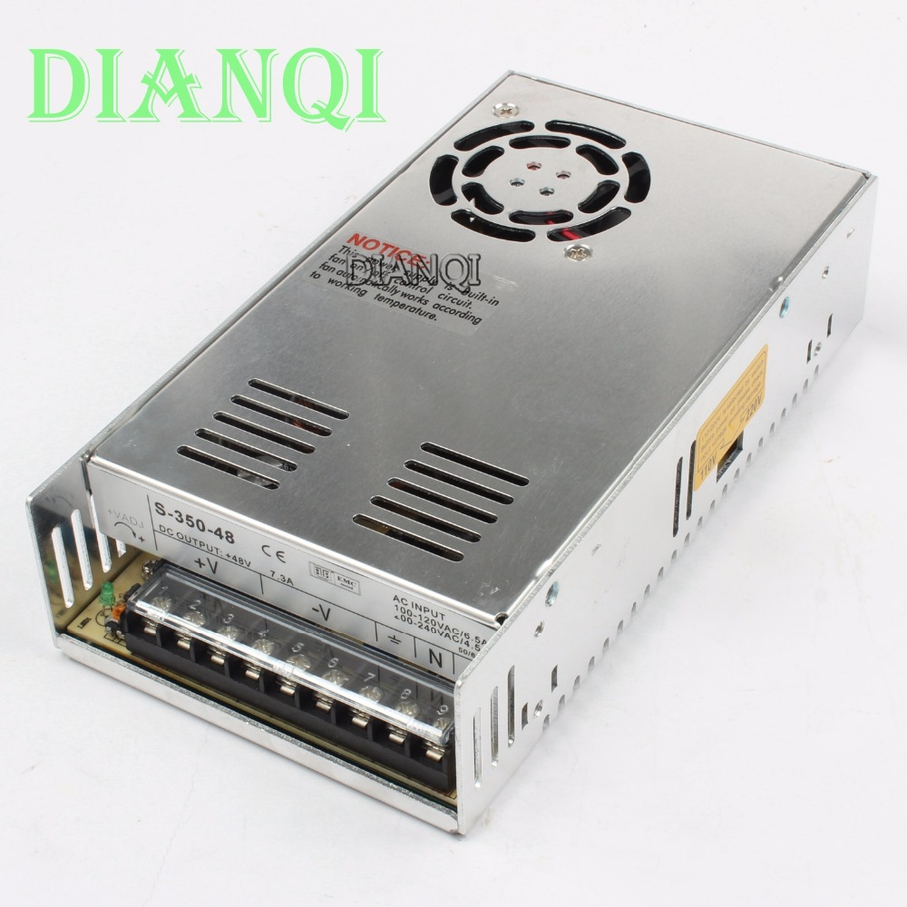DIANQI power suply 48v 350w ac to dc power supply ac dc converter  high quality S-350-48  high quality single output switching power supply power suply unit 350w 48v 7 3a ac to dc power supply ac dc converter s 350 48
