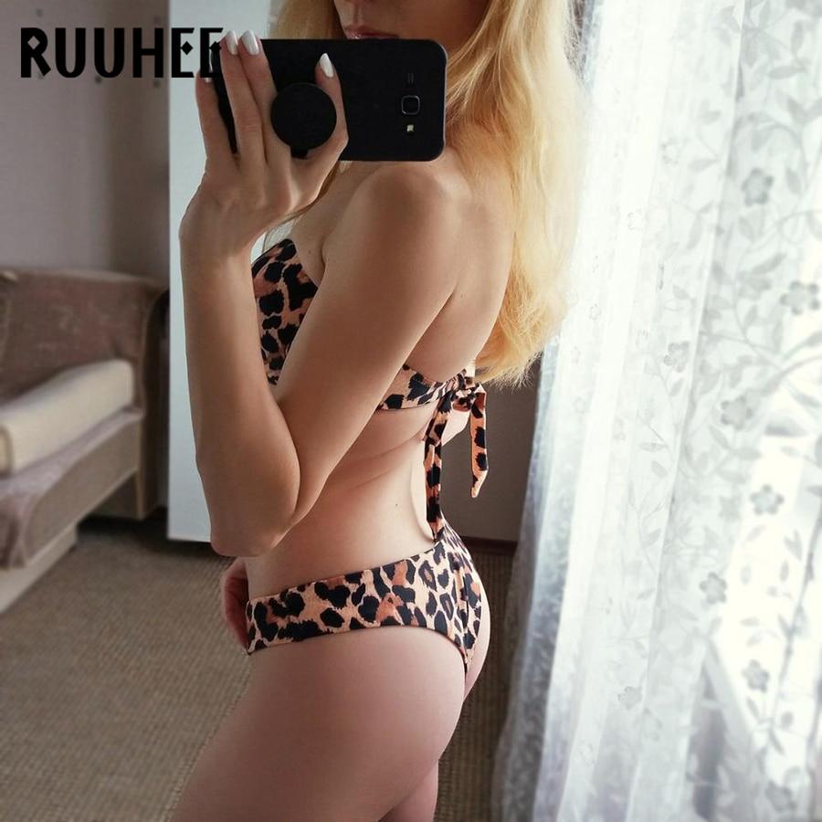 RUUHEE Bikini Swimwear Women Swimsuit 2019 Leopard Brazilian Bikini Set Push Up Bathing Suit Female Summer Beach Wear Biquini
