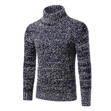 Mens Sweater Men 2017 Brand Pullovers Casual Sweater Male Turtleneck Slim Fit Knitting Sweaters Man Pullover Plus Size Clothing