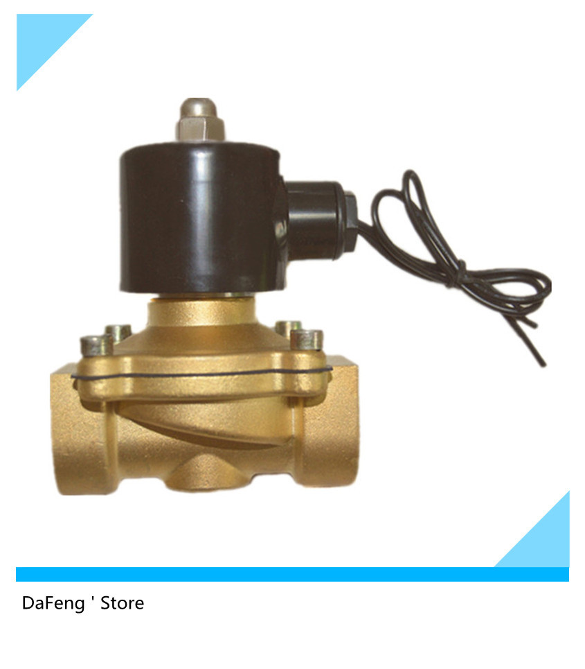 Free Shipping G1 Solenoid Valve,normally closed copper valve 2w250-25 ,220VAC free shipping 5pcs 1 brass solenoid valve 12v normally closed water diesel 2w250 25 fkm