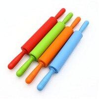44*5.3 cm Silicone Cán Pins Bột Pastry Nhựa Lăn Xử Lý Silicone Lớn Nhạc Rolling Pin Baking Công C