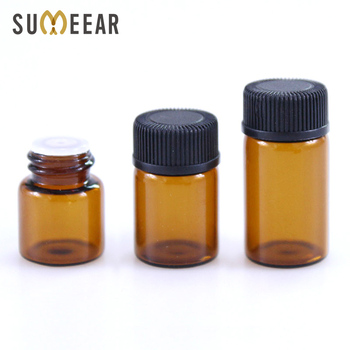 100pcs 1ml 2ml 3ml Dram Amber Glass Essential Oil Bottle Thin Glass Small Brown Perfume Oil Vials Empty Cosmetic Containers 5ml10ml15ml20ml30ml50ml100ml empty cosmetic dropper bottle blue essential oil containers glass pipettes essence package