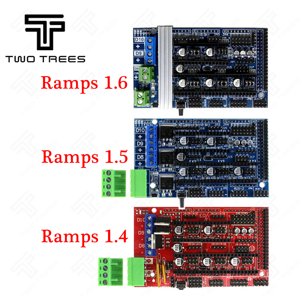 3D Printer Parts Ramps 1.4 1.5 1.6 Expansion Control Panel with Heatsink Upgraded Ramps for arduino Board for Reprap Mendel protoshield expansion board with mini bread board for arduino
