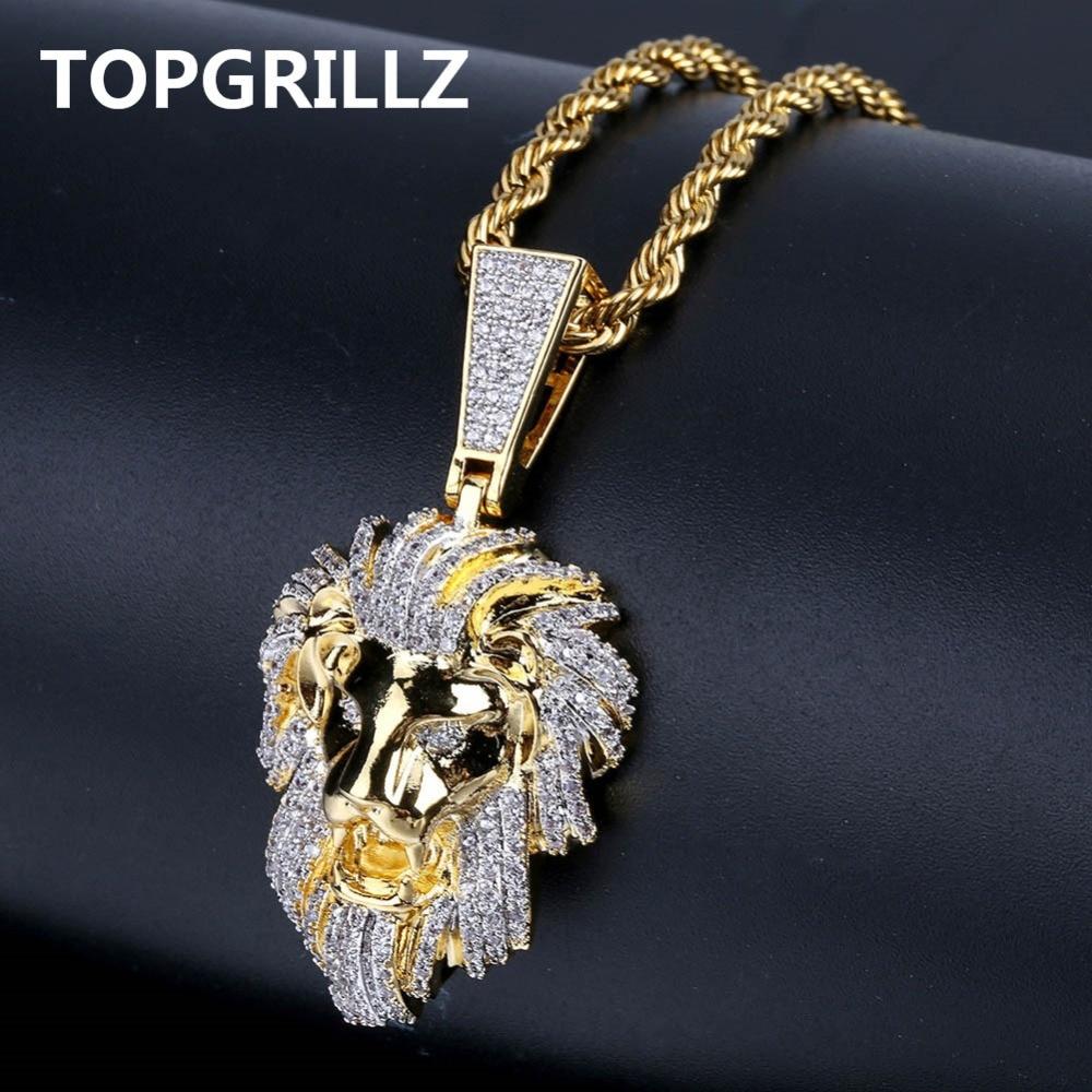Comprare TOPGRILLZ Hip Hop Di Colore Dell oro Placcato Iced Out ...