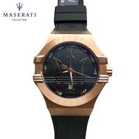 Maserati 2018 New Gold Watch For Men Quartz Luxury Brand Wrist Watches 5Bar Waterproof Wristwatches High Quality R8853123012