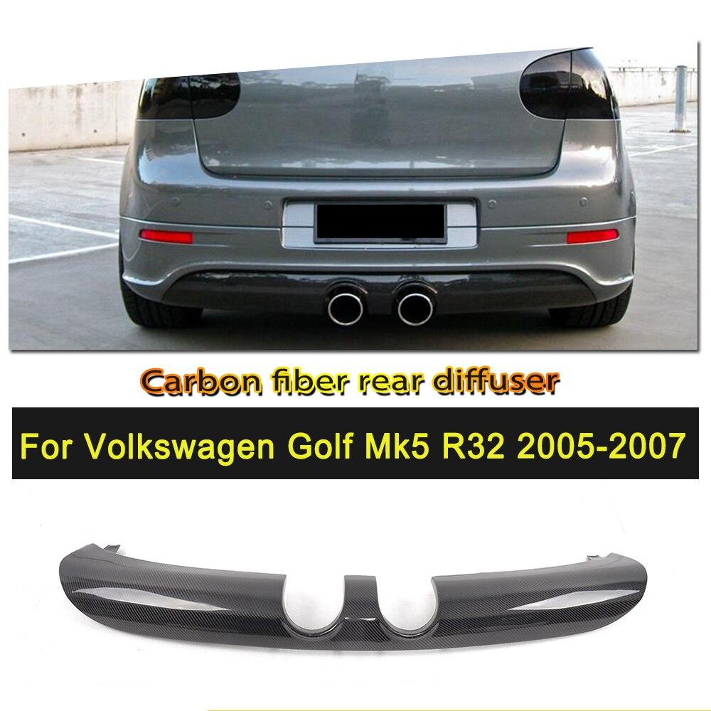 Carbon Fiber Rear Bumper Diffuser Lip for Volkswagen VW Golf MK5 R32 Base Hatchback 2-Door 2006-2008