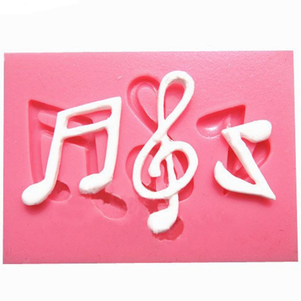 3D Notas de la Música de Silicona Molde de Pastel de Chocolate Fondant Moldes de