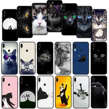 Los ojos en gato negro buho suave funda para Xiaomi Redmi Note 7 4 4X 6 Pro 5 Plus 5A 6A ir S2