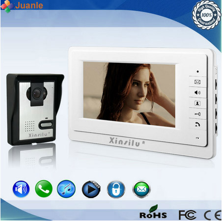XINSILU New Home Security Intercom System Promotion Price 700TVL HD Camera+7High Resolution LCD Screen Video&Audio Door Phone