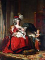 figurative painting canvas Imagich Top 100 prints Queen Marie Antoinette and Her Children 1787  By Elisabeth Louise Vigee LeBrun