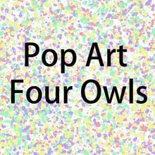 Wxkoil большой Размеры масло живопись поп-арт четыре Совы домашнего декора на холсте современного искусства стены холст печатные плакаты картины живопись