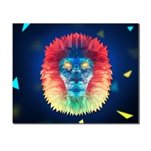 Laeacco Abstract Watercolor Cartoon Lion Animal Poster Wall Art Picture Nordic Canvas Painting Home Decor Living Room Decoration