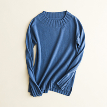 New Arrival Elegant Women's Jumpers 100% Cashmere Knitting Sweaters High Quality Ladies Low Oneck Thick Warm Pullovers Top Cloth(China)