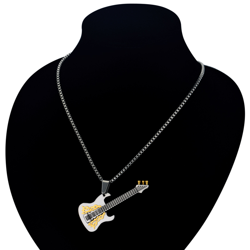 Necklace Musical Pendant Guitar Music Jewelry 07