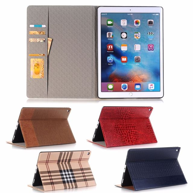 Case For iPad 9.7 2017 2018 Business Leather Case For iPad 5 / 6 / Air / Air 2 Smart Support stand Cover case + Gift