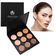 Natural Professional 9 Colors Face Concealer Camouflage Cream Contour Palette maquillaje profesional foundation paleta