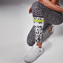 and America burst paragraph cross-border special for wave point leopard leopard splicing, yoga movement, Leggings
