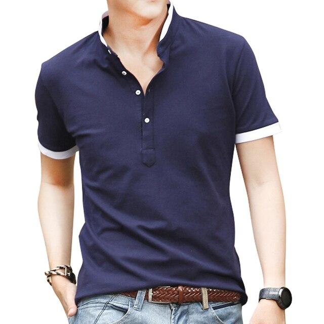 044b8376be Nueva Marca de 100% hombres de Alta Calidad Camisa Polo Para Hombres Polos  de Los
