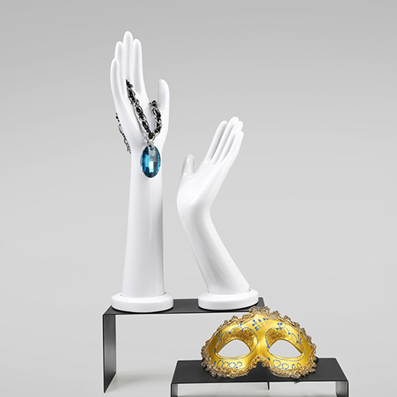 A Pair White High Quality Female Hands Mannequin Model Watch Ring Bracelet Gloves Mannequin Hand Stand Display (4)