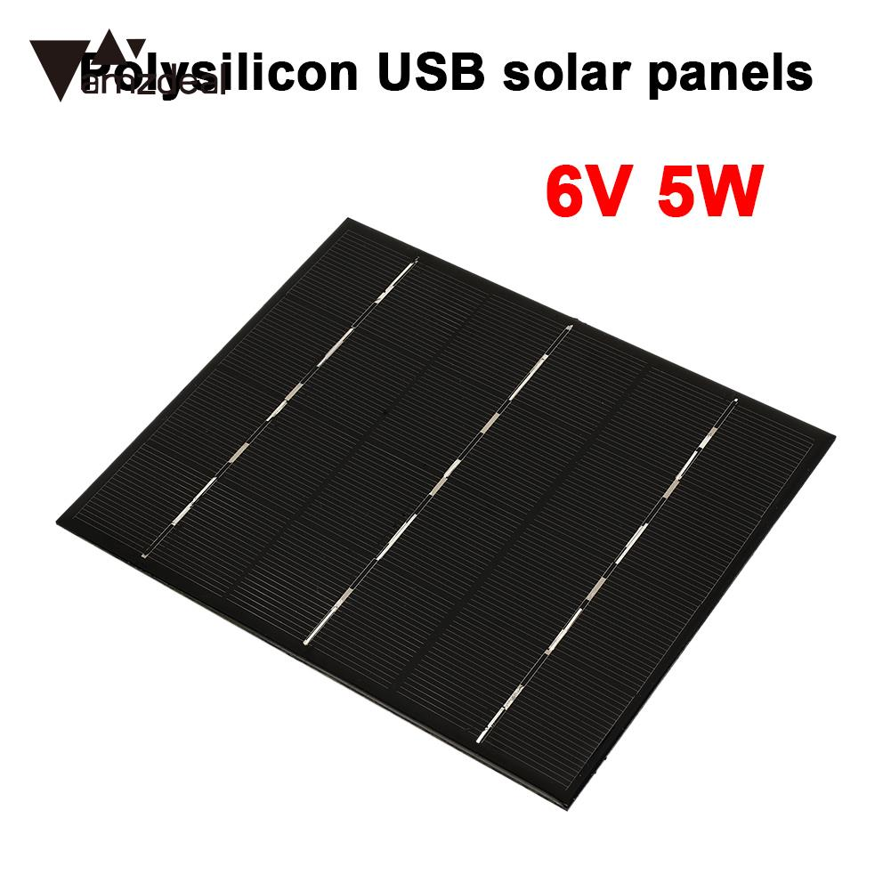 Portable Solar Charger Pane USB Solar Panel Solar Generator 5W 6V USB Port Polysilicon Phone Charger Mobile Phone Fast Charger