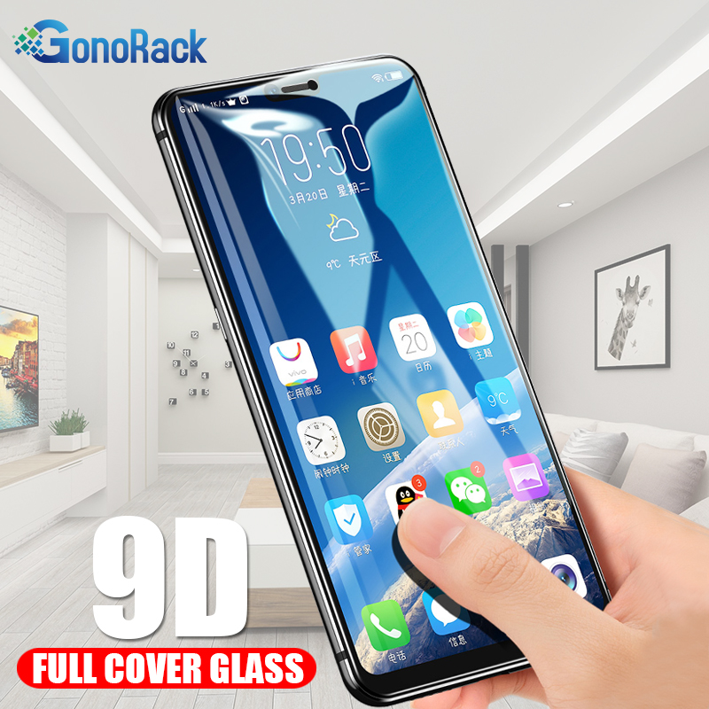 9D Tempered Glass for OPPO F9 Glass oppo R15 R17 Protective Glass oppo A7 AX7 Realme U1 oppoF9 oppoR15 F7 F5 Screen Protector
