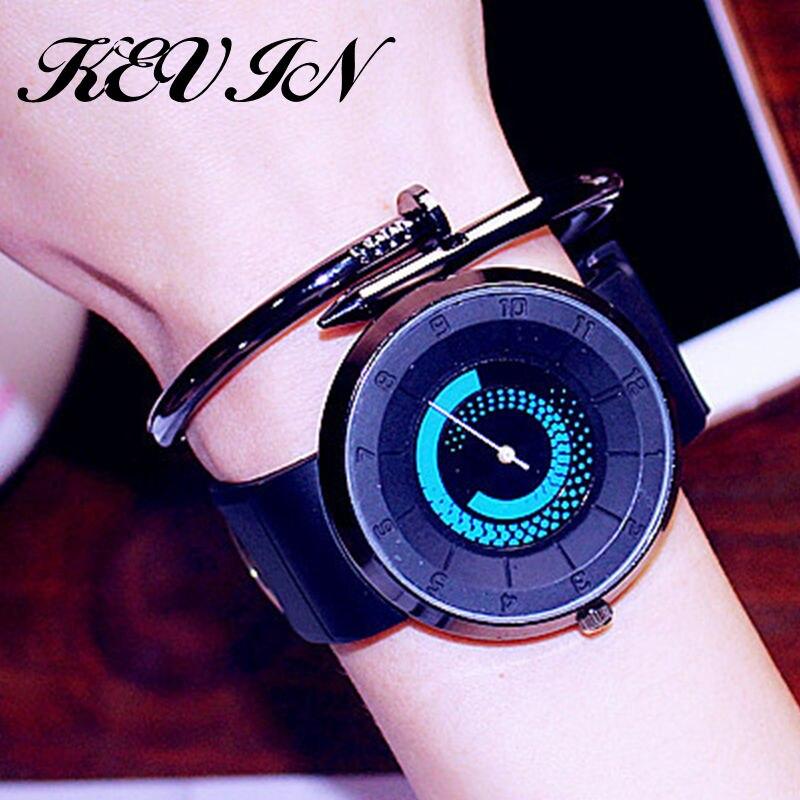 Creative Turntable Technology Fashion Couple Watches Quartz Students Trendy Personality Bracelet Women&men Sports Watches Clock