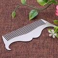 1Pc Men Boar Hair Brush Beard Mustache Stainless Steel Material Handle Grooming Comb