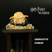 2017 Noble Collection Latest Version Harry Potter GRINGOTTS GOBLIN Collection Model Toys Domestic Elf