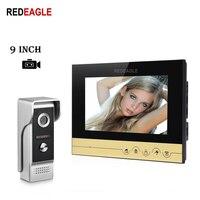 Redeagle 9 дюймов tft цифровой сенсорный ключ Экран Запись телефон видео домофон 800TVL Ночное видение ИК Камера + 4 м кабель Бесплатная