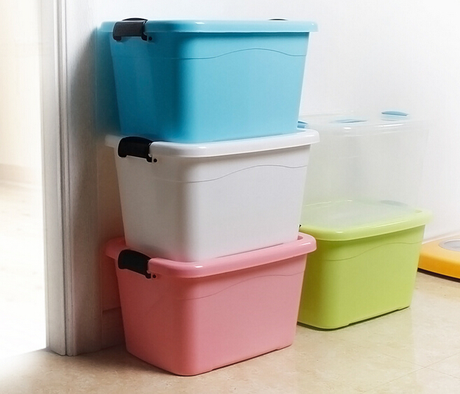 1PC Plastic storage box with lid finishing Plastic Clear Transparent