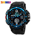 SKMEI Brand Digital Watch Men Outdoor Sports Watches Dual Display Wristwatches Waterproof PU Strap Relogio Masculino  1148