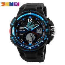 SKMEI Brand Digital Watch Men Outdoor Sports Watches Dual Display Wristwatches Waterproof PU Strap Relogio Masculino  1148