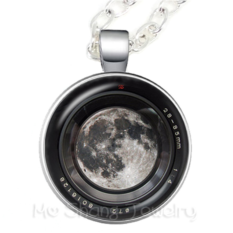 2018 New Trendy Camera Mode Necklace For Photographers Fashion Photography Handmade Glass Dome Pendant Necklace Best Gift