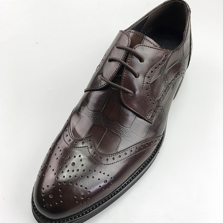 coffer Genuino Black Los Caliente Hombres 3 De Oxfords brown Zapatos 2019 Color Grimentin Marca Venta Hombre Negocios Para Cuero Formales fBHHqw