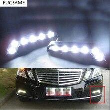 Free Shipping Brand New 6 LED MERCEDES L Shape DRL Daytime Running Lights Kit Lamp Fog Front Light