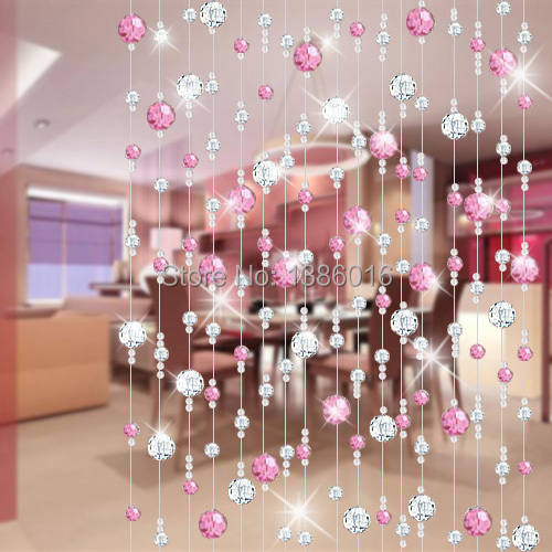 crystal bead curtain off the entrance of finished living room feng ...